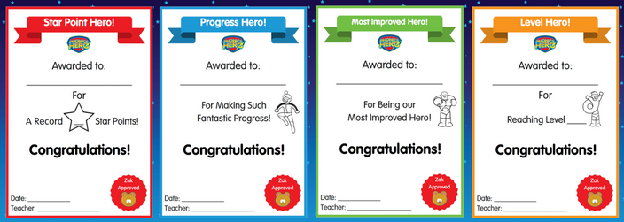 Phonics Hero Certificates