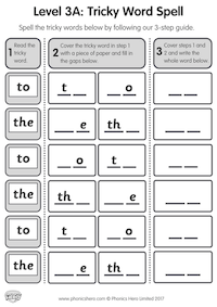 Level 3A - Tricky Word Spell