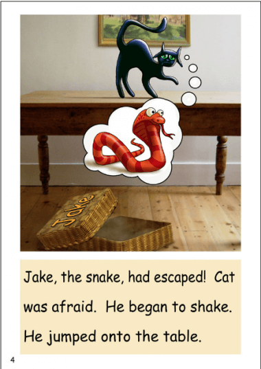 'Jake, the Snake' an advanced decodable book