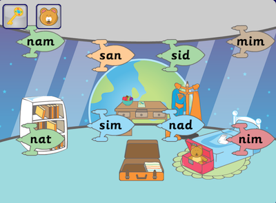 The game assessing phonics skills