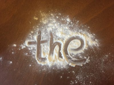 Phonics activities with flour